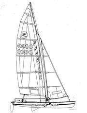Парусный катамаран Hobie Cat - 17 turbo