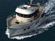 Двухпалубная моторная яхта